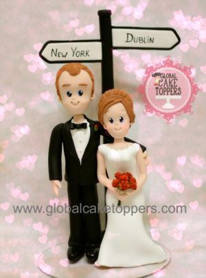 Personalised Bride and Groom Cake Topper