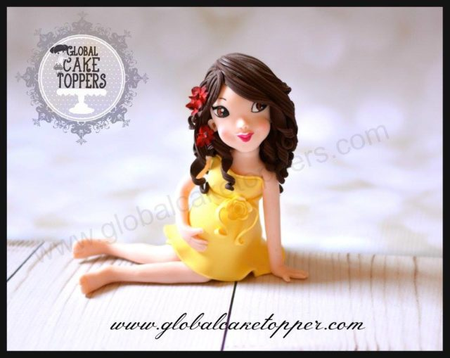 Pregnant Lady Cake Topper