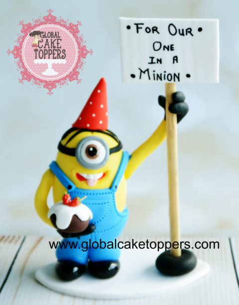 Minion Cake Topper cl;ass