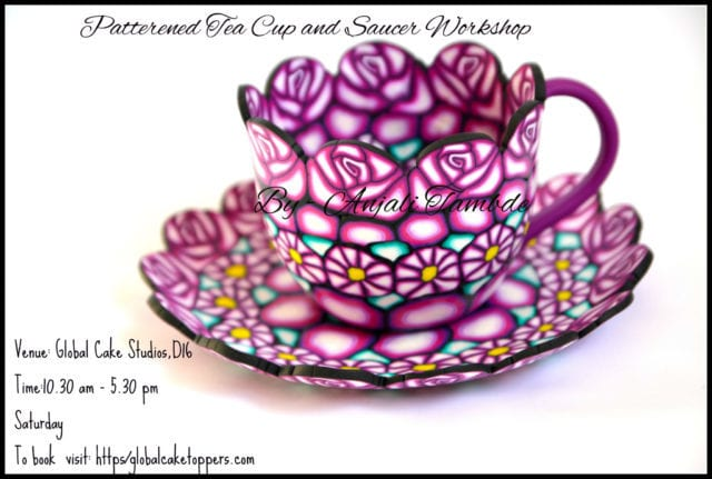Sugarcraft Patterned Cup and Saucer