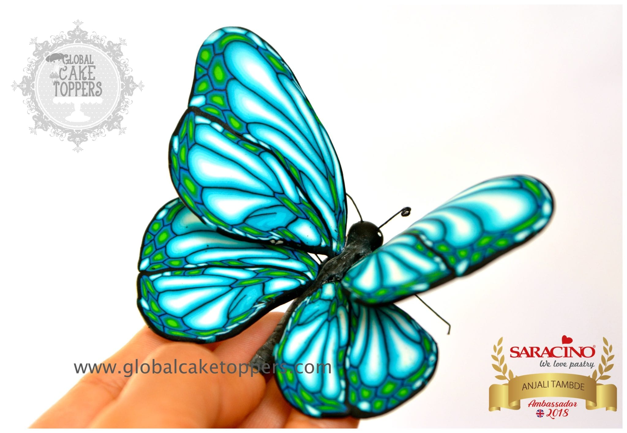 butterfly using sugarpaste