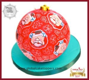 santa clause sugarcraft bauble