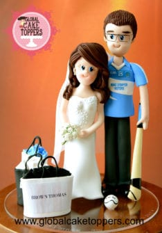 custom bride groom topper