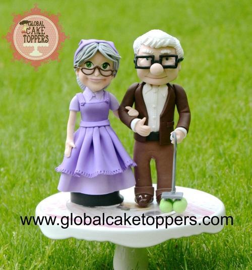 cute couple cake topper