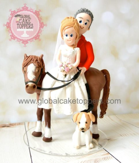 horse riding cake topper