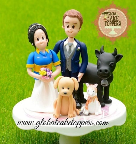 Wedding at the Farm Cake Toppers