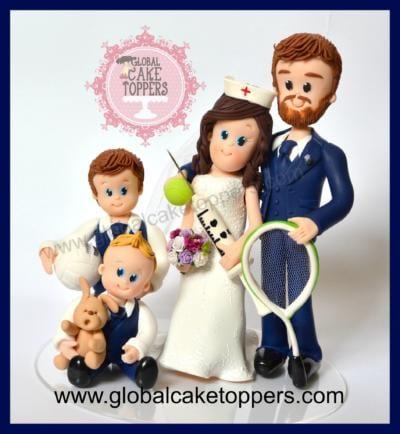 Nurse Bride Wedding Cake Topper