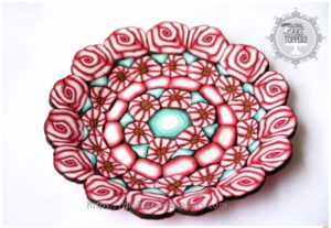 Patterned Saucer with sugarcraft in Ireland