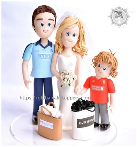 Personalized Lovely Family Handmade Wedding cake topper