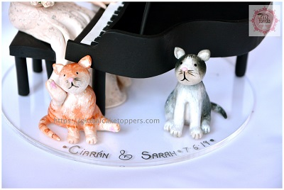Handmade Cute Cats Cake Toppers