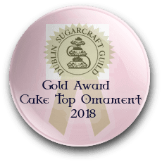 Irish Sugarcraft Cake Top Ornament Gold Award 2018