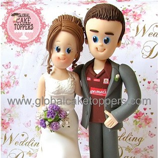 Bride and Groom classic cake topper