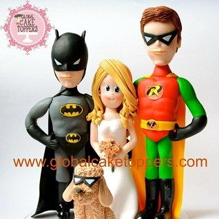 superhero family funny wedding topper