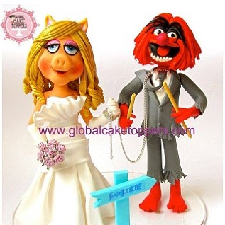 muppets couple cake topper
