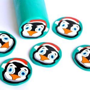 penguin pattern cupcake