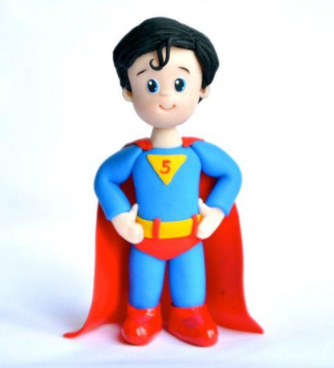 superboy birthday cake topper