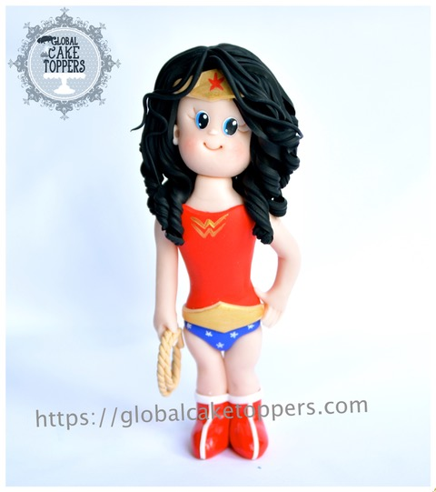 Wonderwoman using sugarpaste