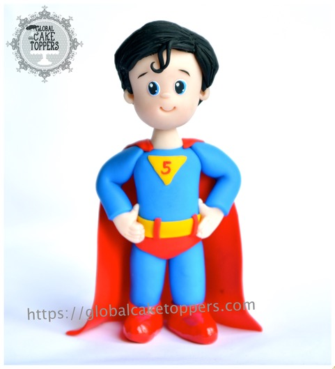 Superman child cake topper