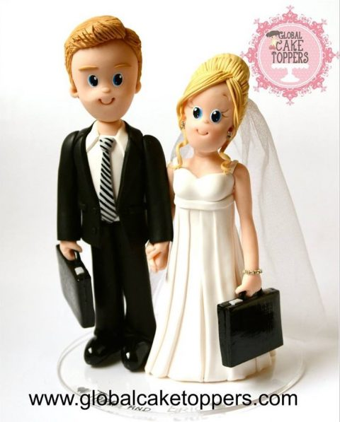 Solicitor Couple Cake Topper