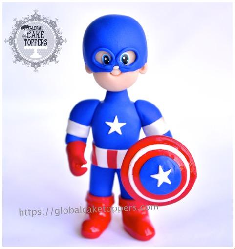 Captain Marvel Cake Topper