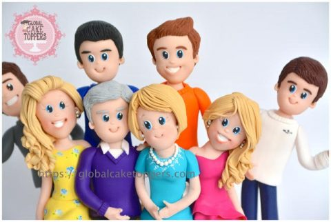 Big Family Cake Toppers