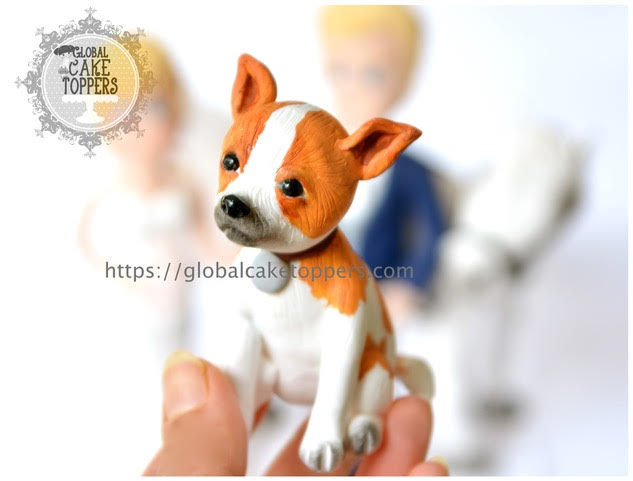 handmade wedding cake topper with pets