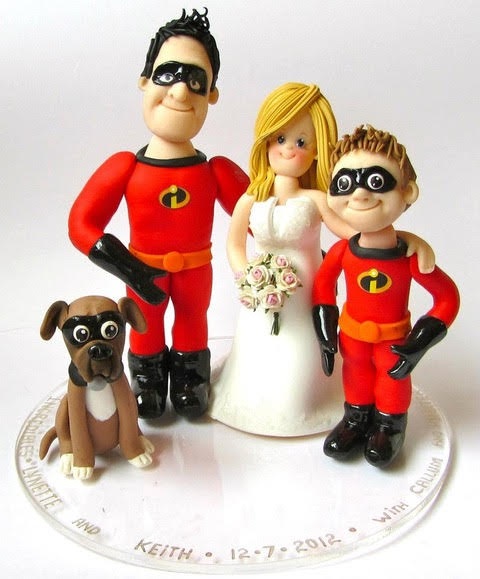 incredible family cake toppers