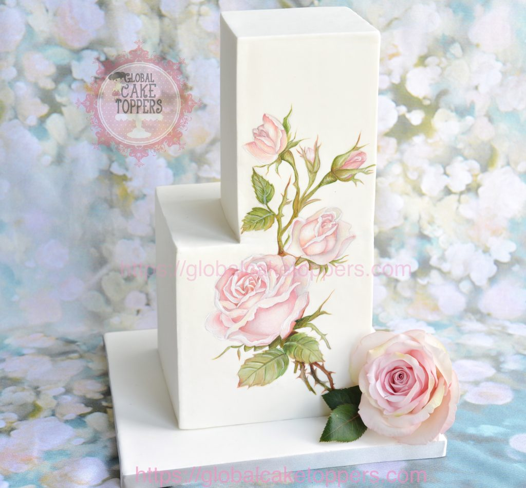 Painting Rose on Cake